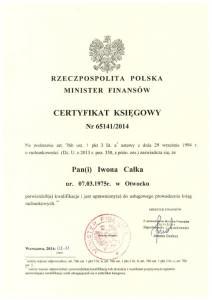 certyfikat-i-calka